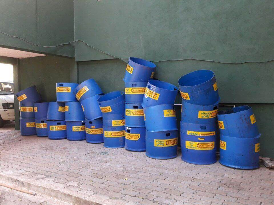 Stock of dustbins to distribute